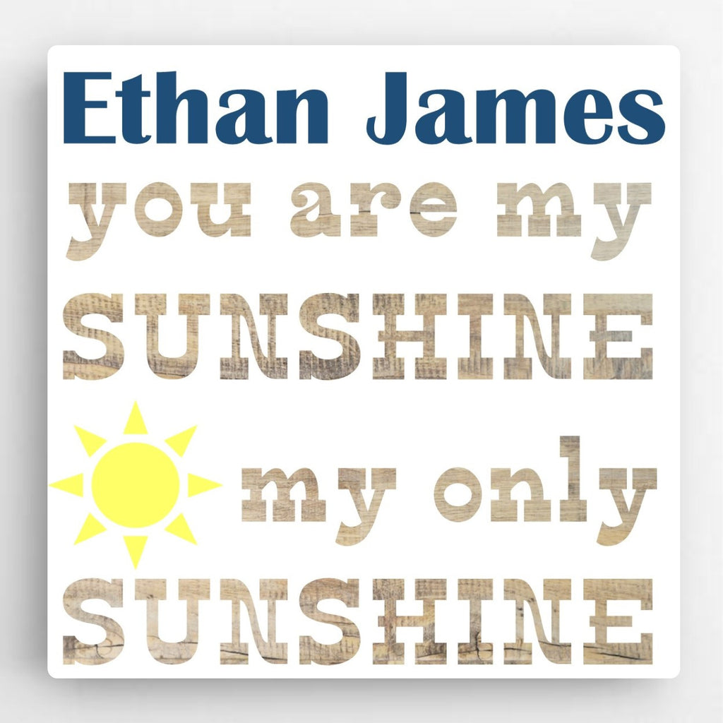 You Are My Sunshine Canvas - Boy - Personalized