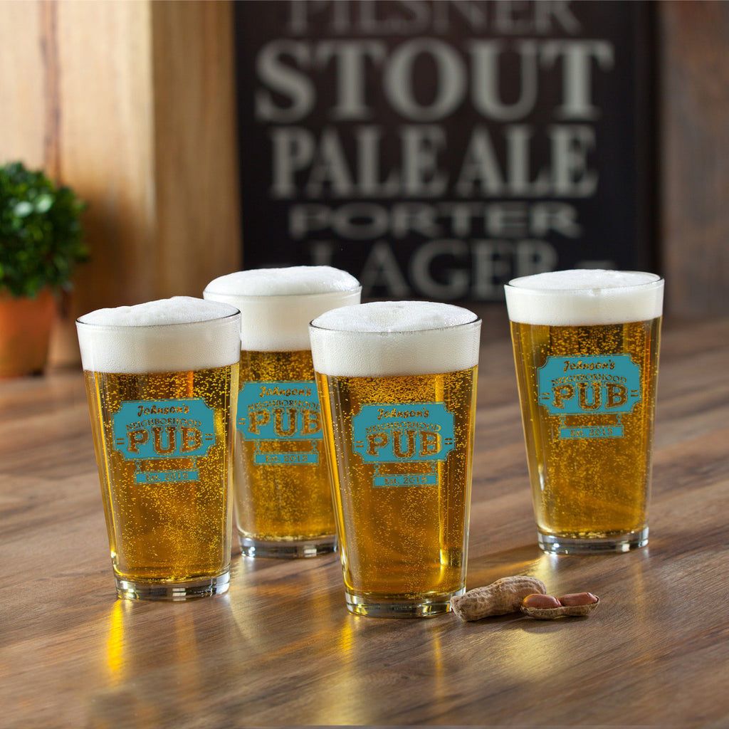 Neighborhood Pub Pint Set - Personalized