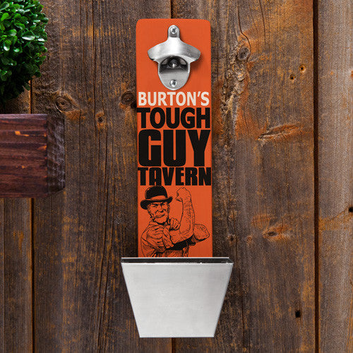 Tough Guy Bottle Opener & Cap Catcher - Personalized