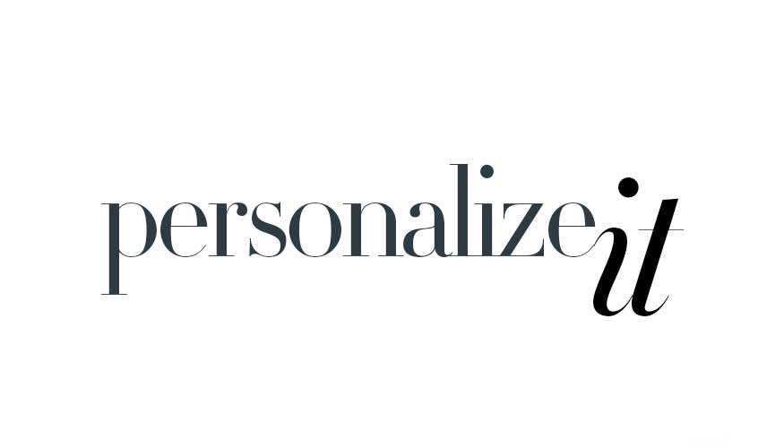 Personalize It