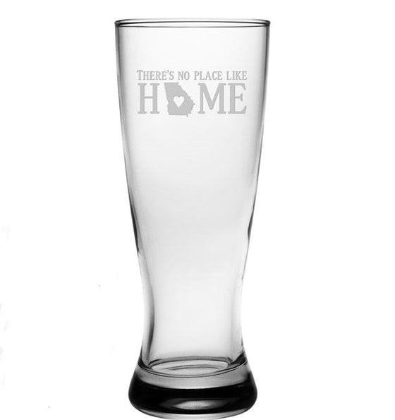 No Place Like Home Pilsner Glasses ~ Set of 4