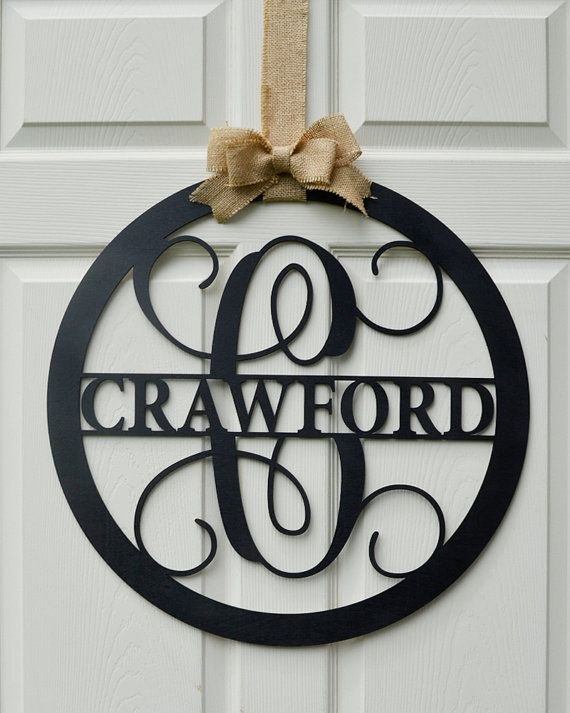 Family Name Wood Monogram - Personalized Home Decor