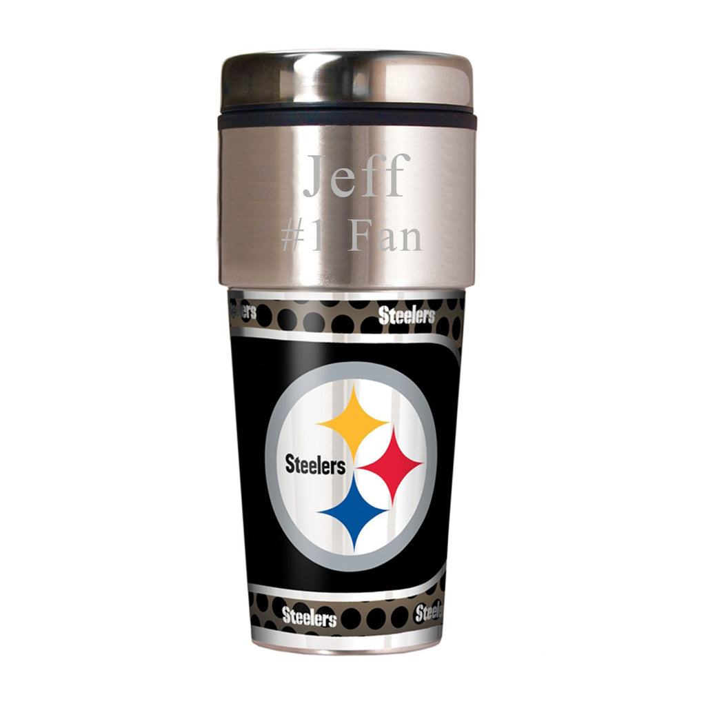 NFL Travel Tumbler ~ Engraved - Pittsburgh Steelers
