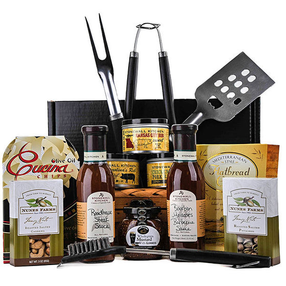 Grill Master Deluxe Gift Basket - Gift Baskets for Him