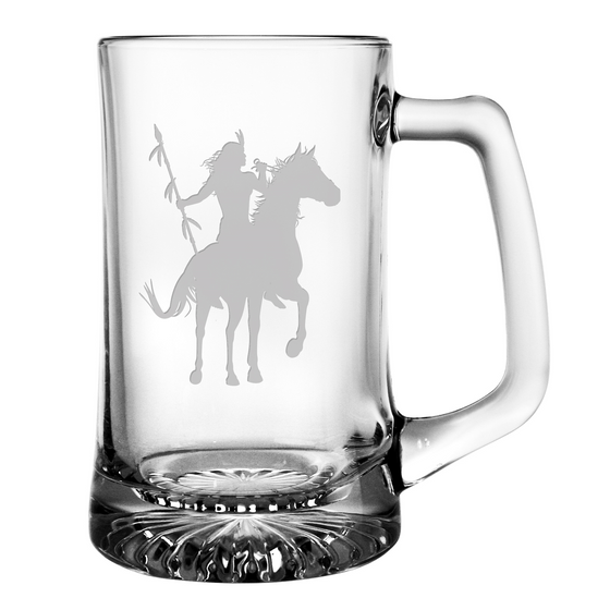 Proud Warrior Beer Mugs - Set of 4 | Premier Home & Gifts