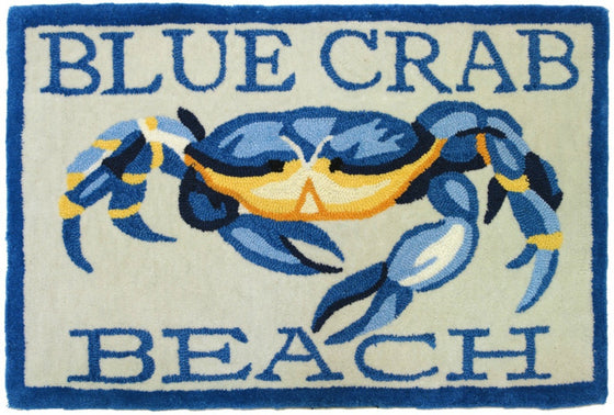 Blue Crab Beach Accent Rug