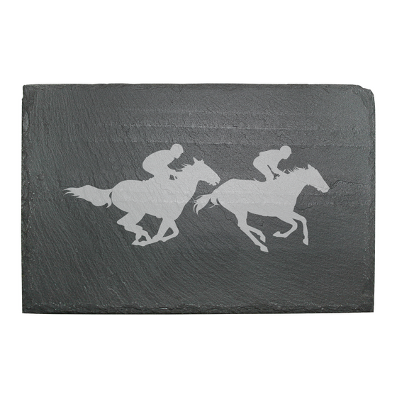 Racehorses Slate Cheese Board