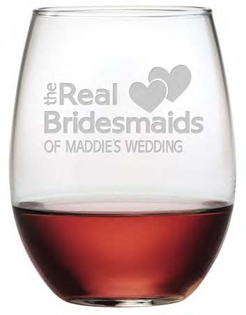 The Real Bridesmaids Stemless Wine Glasses