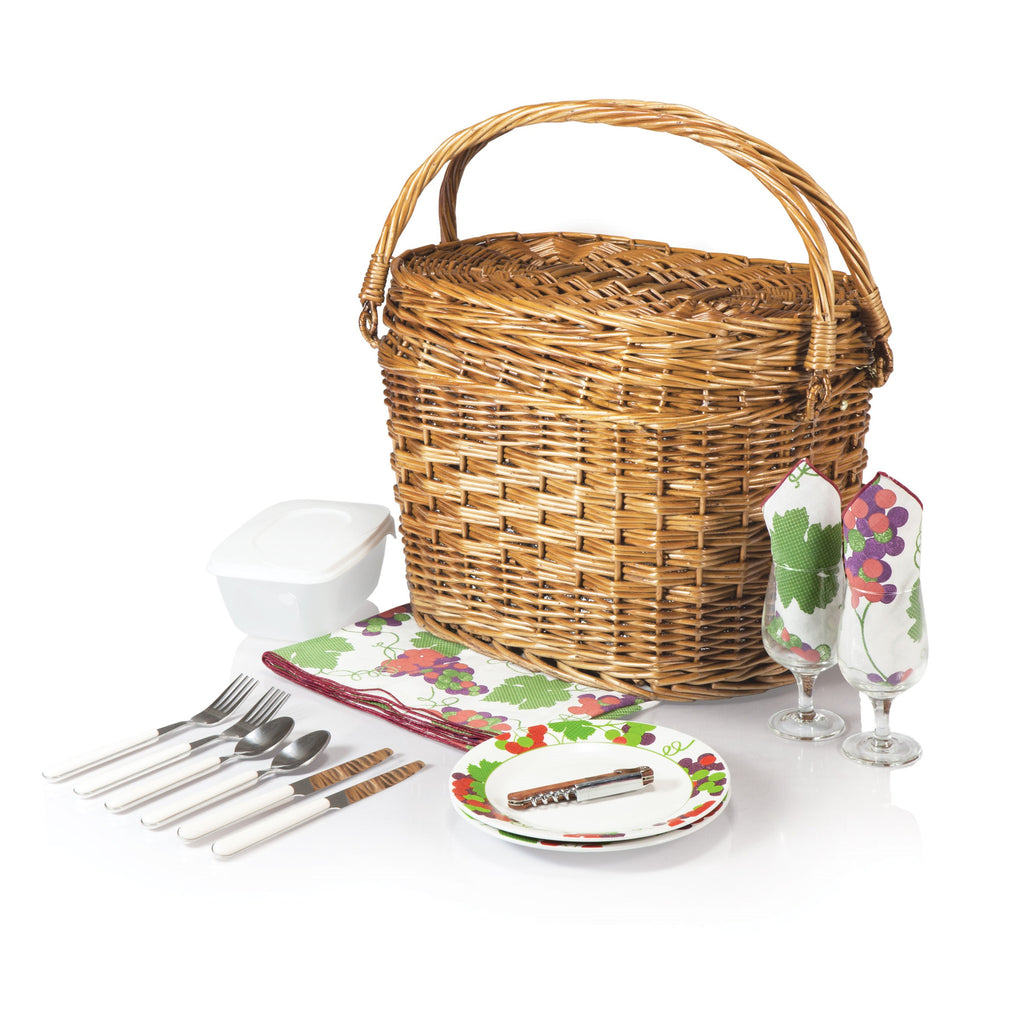 Romance Picnic Basket - Nouveau Grape | Premier Home & Gifts