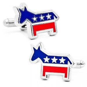 Democrat Cufflinks and Tie Bar Gift Set