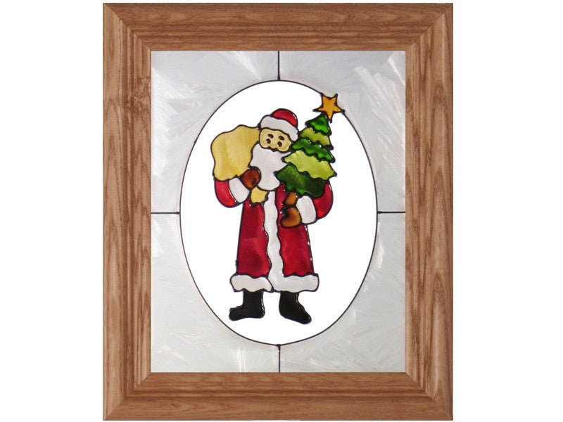 Santa Stained Glass Art