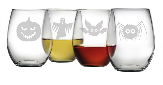 Scary Creatures Stemless Wine Glasses - Premier Home & Gifts