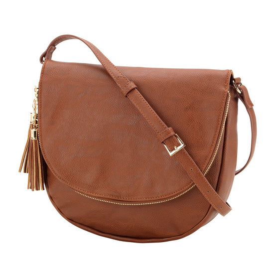 Sienna Tassel Crossbody Bag - Camel | Premier Home & Gifts