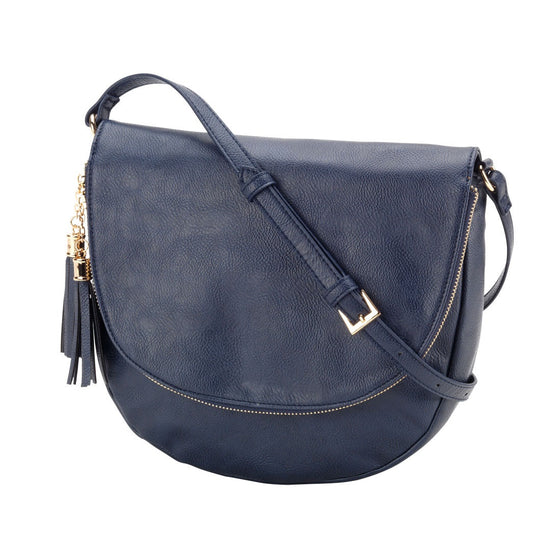 Sienna Tassel Crossbody Bag - Navy | Premier Home & Gifts