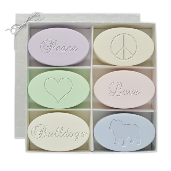 Peace, Love, Bulldogs Soap Gift Set