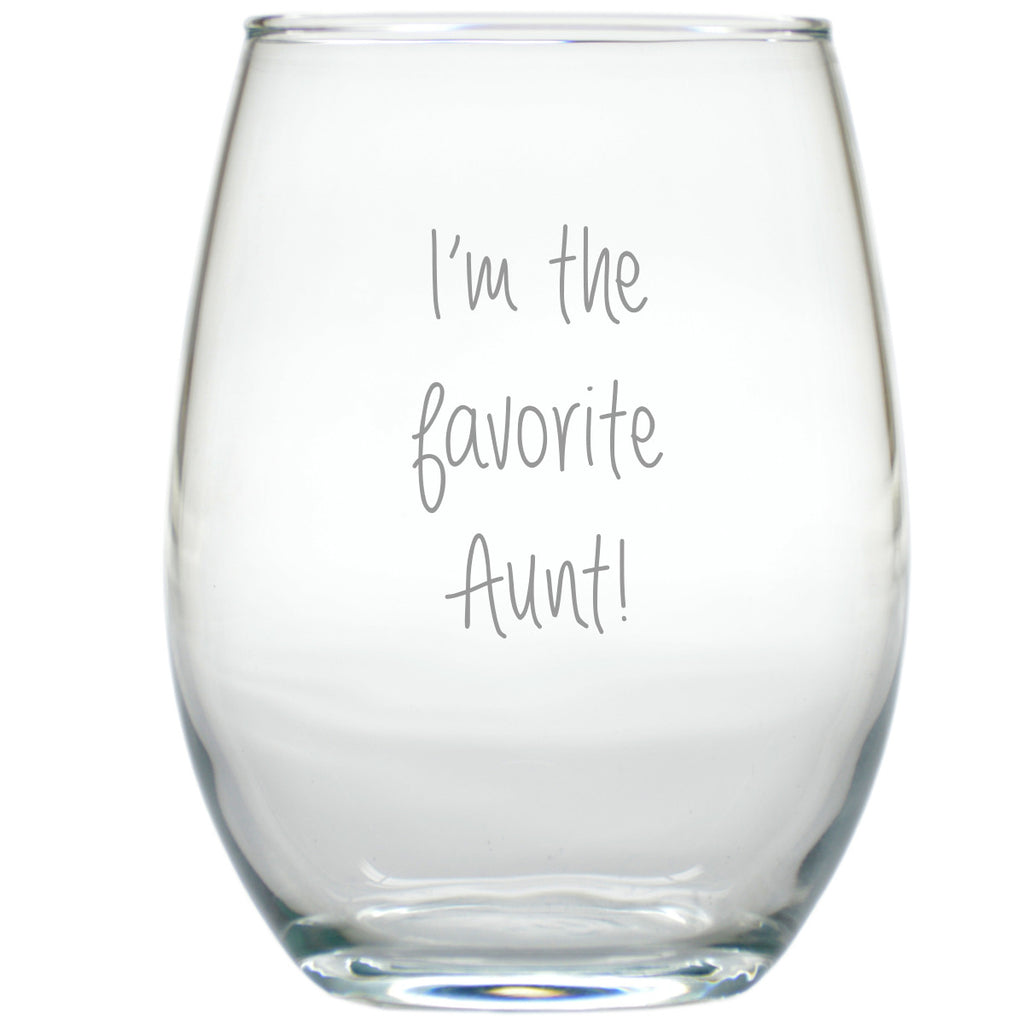 Favorite Aunt Stemless Wine Glass - Premier Home & Gifts
