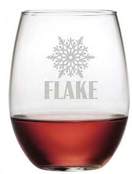 Snow + Flake Stemless Wine Glasses ~ Set of 4