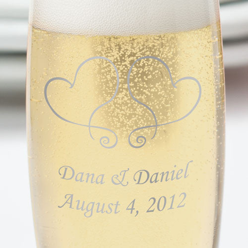 Stemless Champagne Glasses ~ Party Favors ~ Set of 24 ~ Personalized