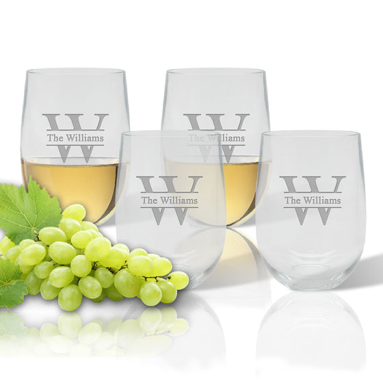 Divided Outdoor Acrylic Stemless Wine Glasses - Premier Home & Gifts
