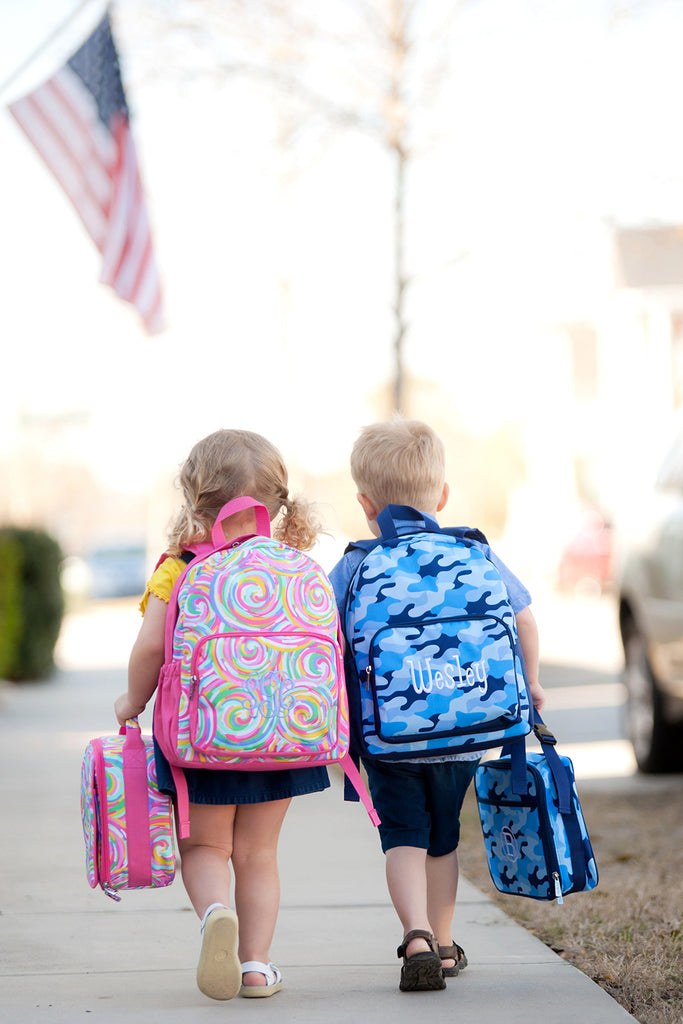 Blue Camo Preschool Backpack
