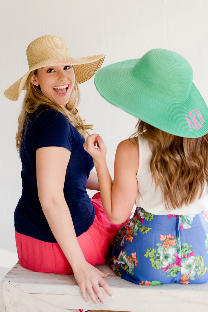 Summer Floppy Hat - Hot Pink - Monogrammed Gifts