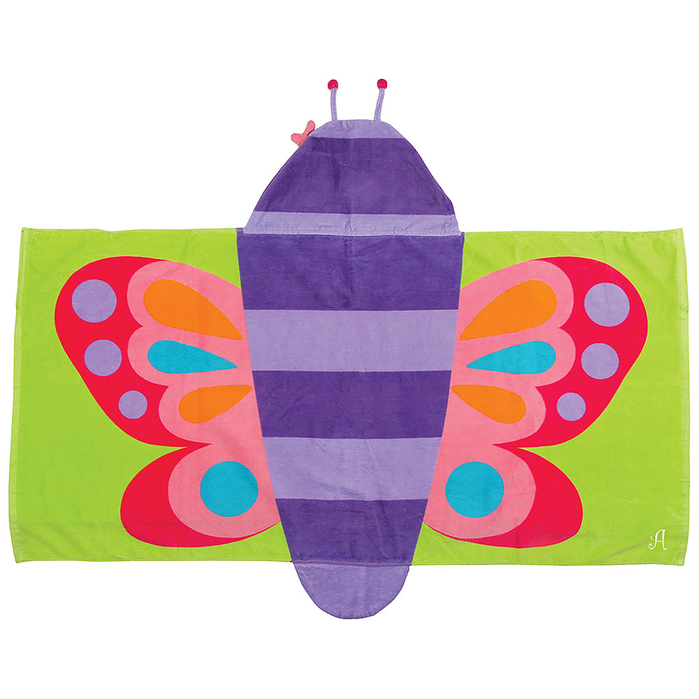 Butterfly Hooded Towel - Personalized Gifts for Girls