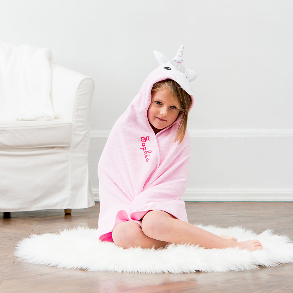 Unicorn Hooded Towel - Personalized Gifts for Her