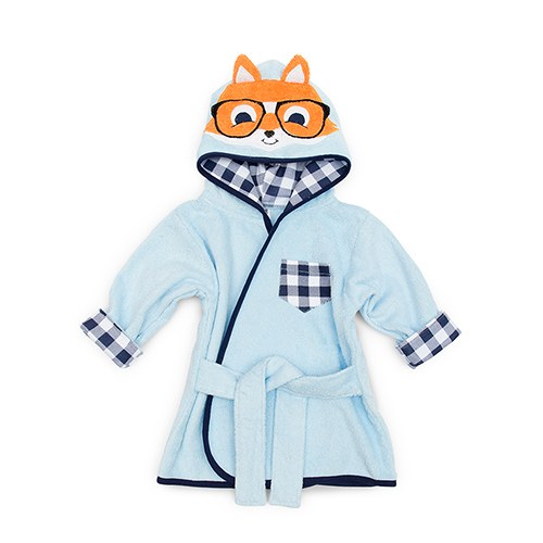 Fox Hooded Bathrobe - Personalized Gifts for Boys
