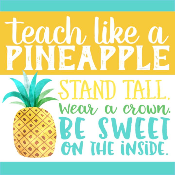 be a pineapple teacher personalized candle