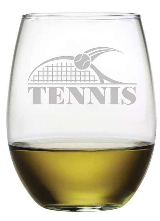 Tennis Stemless Wine Glasses