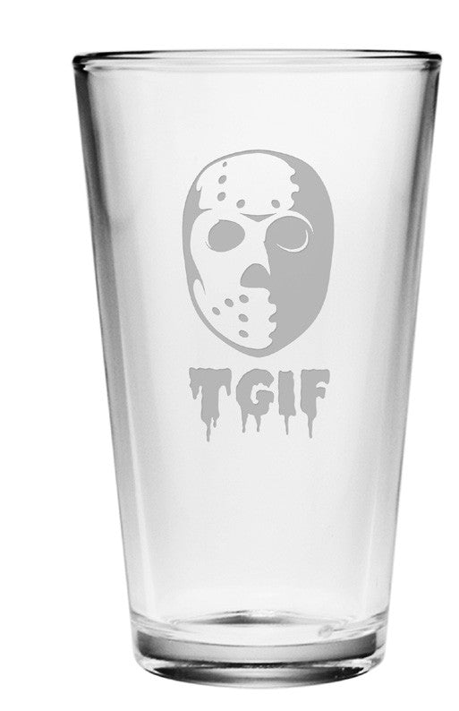 TGIF Friday the 13th Pint Glasses - Set of 4