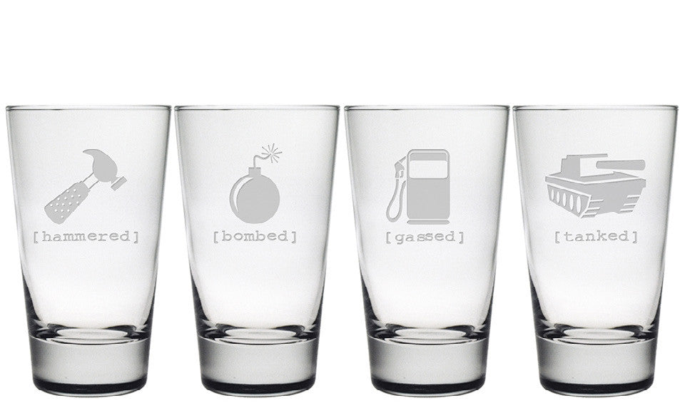 Mr. Tipsy Pint Glasses - Set of 4