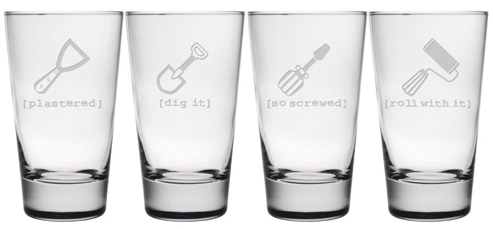 Tool Time Pint Glasses - Set of 4