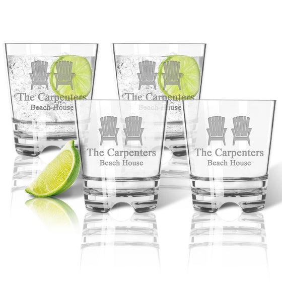 Adirondack Chairs Double Old Fashioned Outdoor Acrylic Glasses