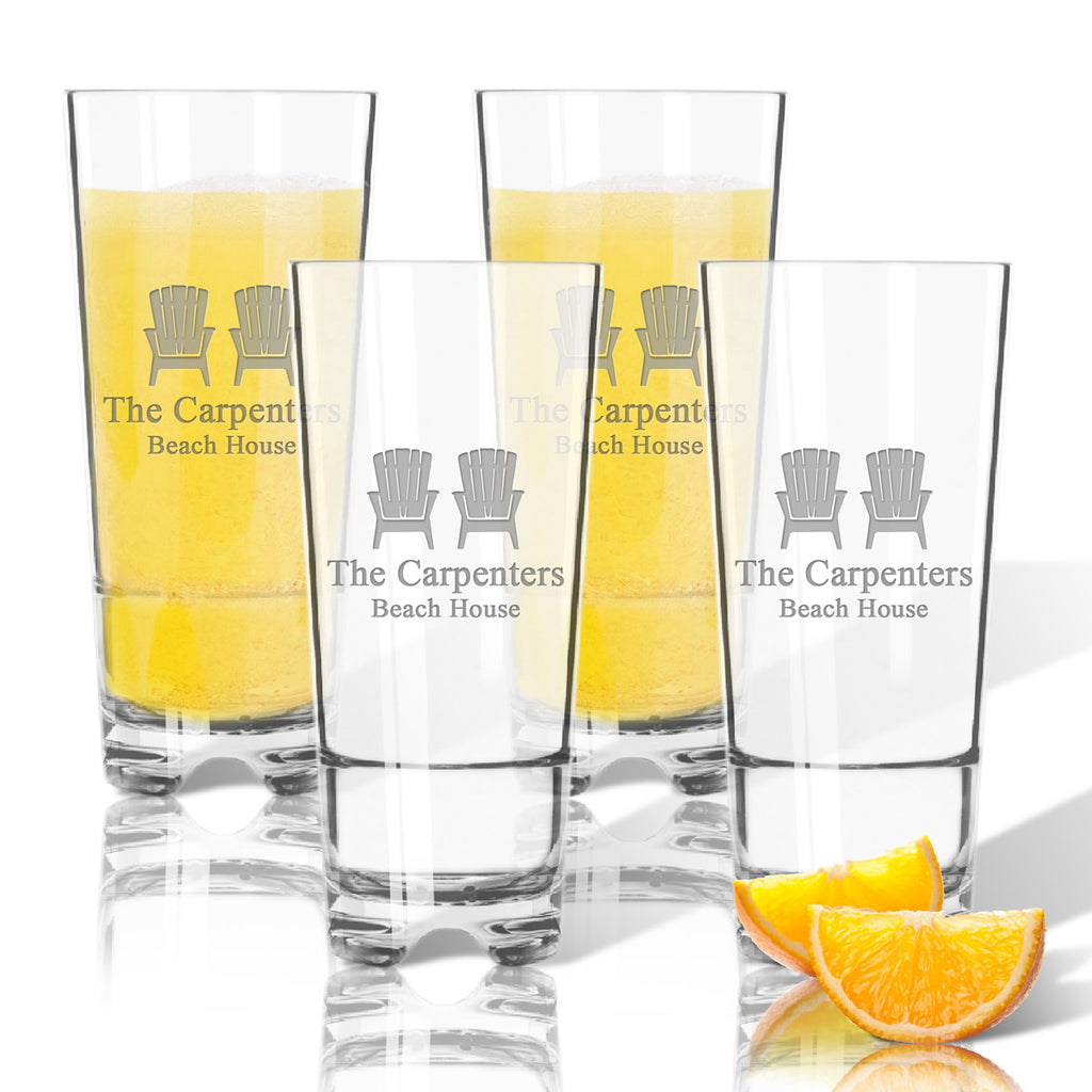Adirondack Highball Outdoor Acrylic Glasses - Set of 4 - Premier Home & Gifts