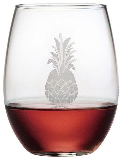 Pineapple Stemless Wine Glasses