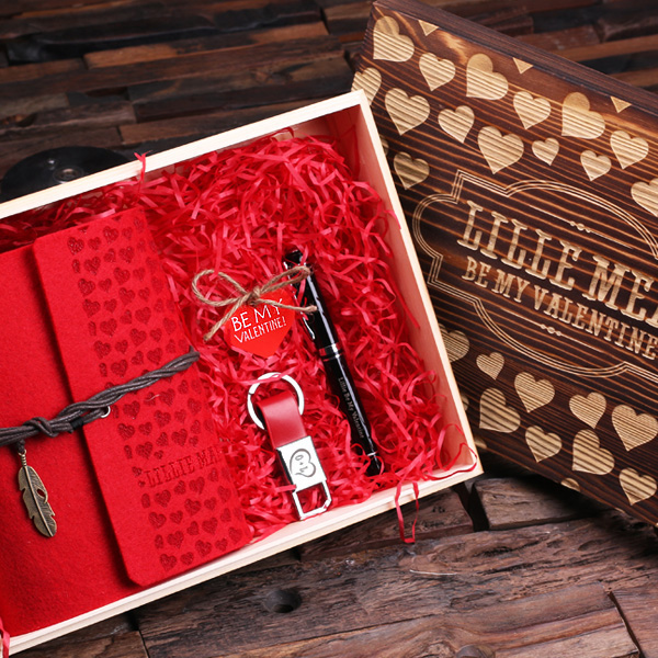 Valentine's Day Grand Gift Set in Wood Gift Box - Premier Home & Gifts