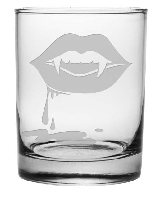 Vampire Lips Double Old Fashioned Glasses