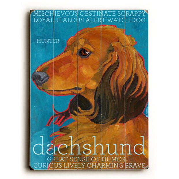Dachshund II Wood Sign