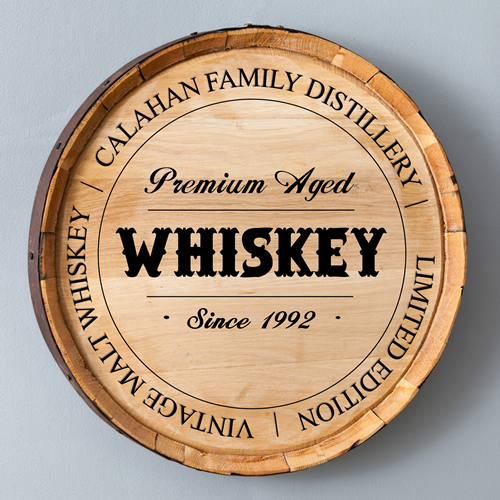 Whiskey Barrel Sign - Family Distillery