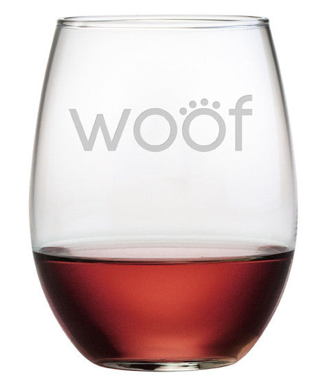 Woof Stemless Wine Glasses