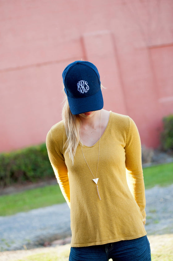 Baseball Wool Cap - Navy | Premier Home & Gifts