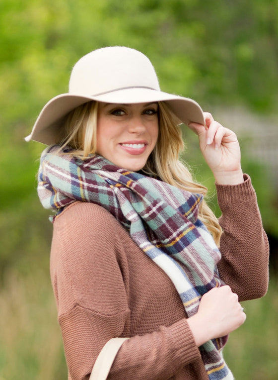 Floppy Wool Hat - Natural | Premier Home & Gifts