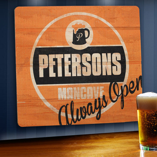 Wood Tavern & Bar Sign ~ Always Open