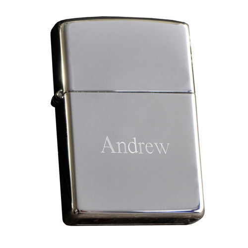 High Polish Chrome Zippo Lighter ~ Personalized