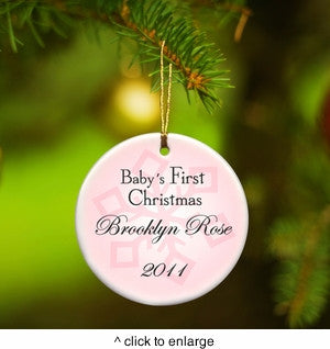 Baby Girl's First Christmas Ornament ~ Personalized