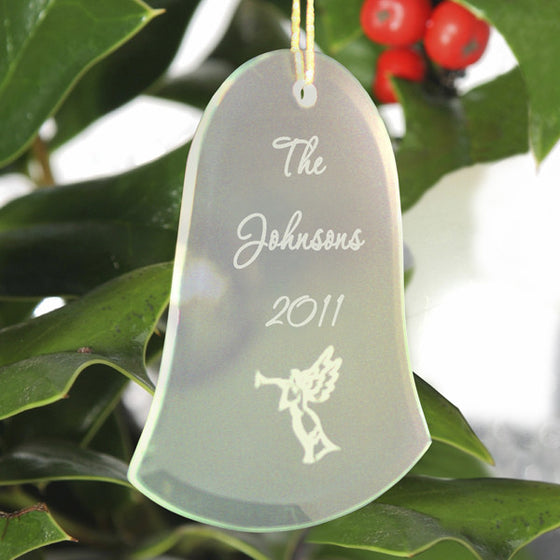 Bell Christmas Ornament ~ Engraved