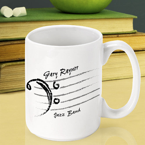 Bass Clef Teacher Mug ~ Personalized
