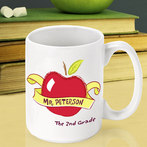 Red Apple Teacher Mug ~ Personalized
