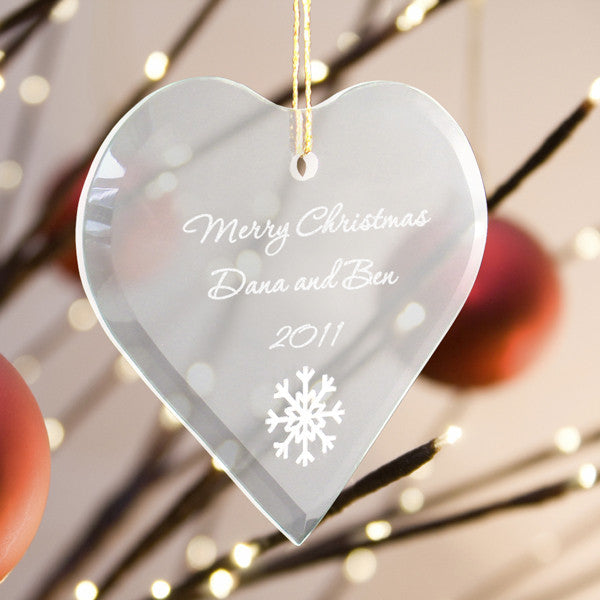 Heart Christmas Ornament ~ Engraved